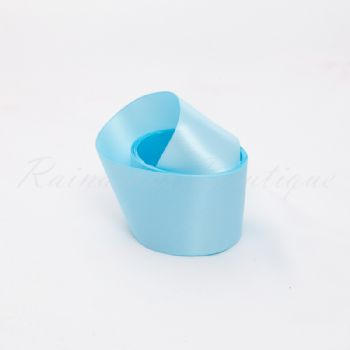 Light Blue Double Satin Ribbon by the Metre 38mm